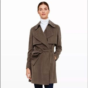 NWT Club Monaco Lindy Trench Coat in Olive Colour